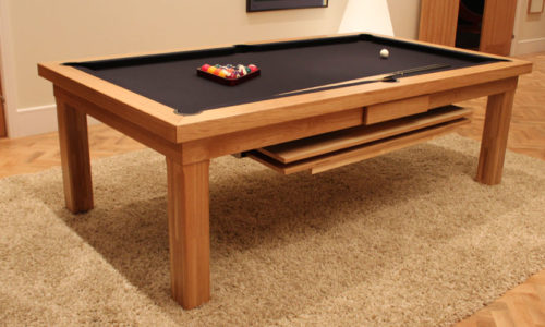 Modern Oak Pool Dining Table