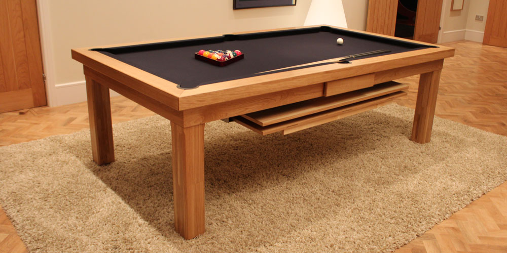 Pool dining table buying guide luxury pool tables for Modern oak dining table