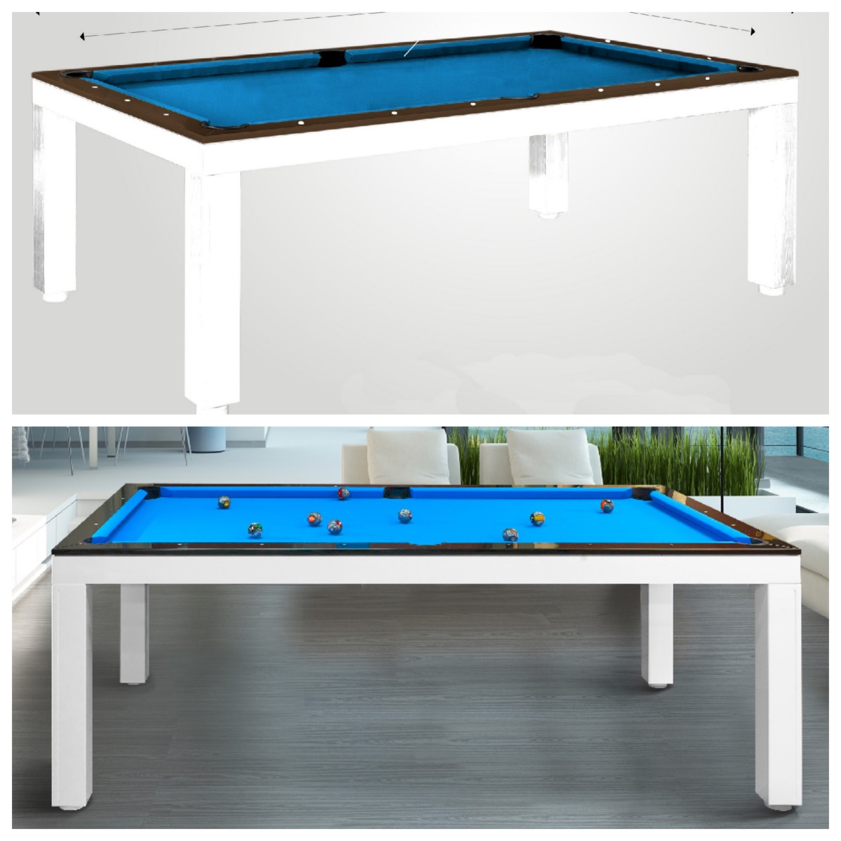 Custom made pool tables luxury pool tables for Pool design questions