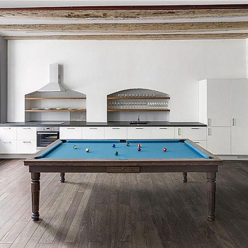 Modern Luxury Pool Table in Solid Oak