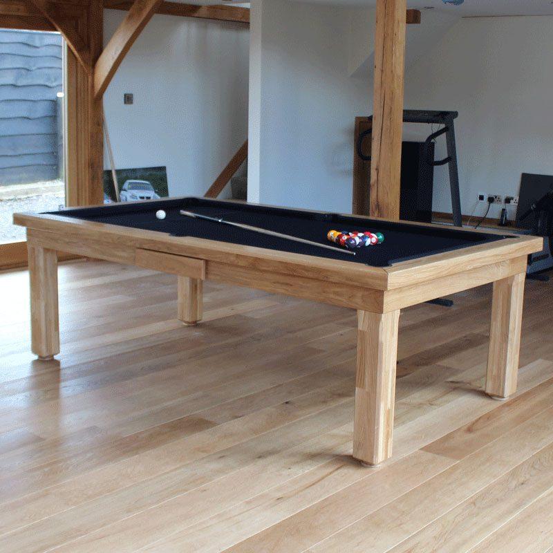 Modern Luxury Pool Table in natural Solid Oak