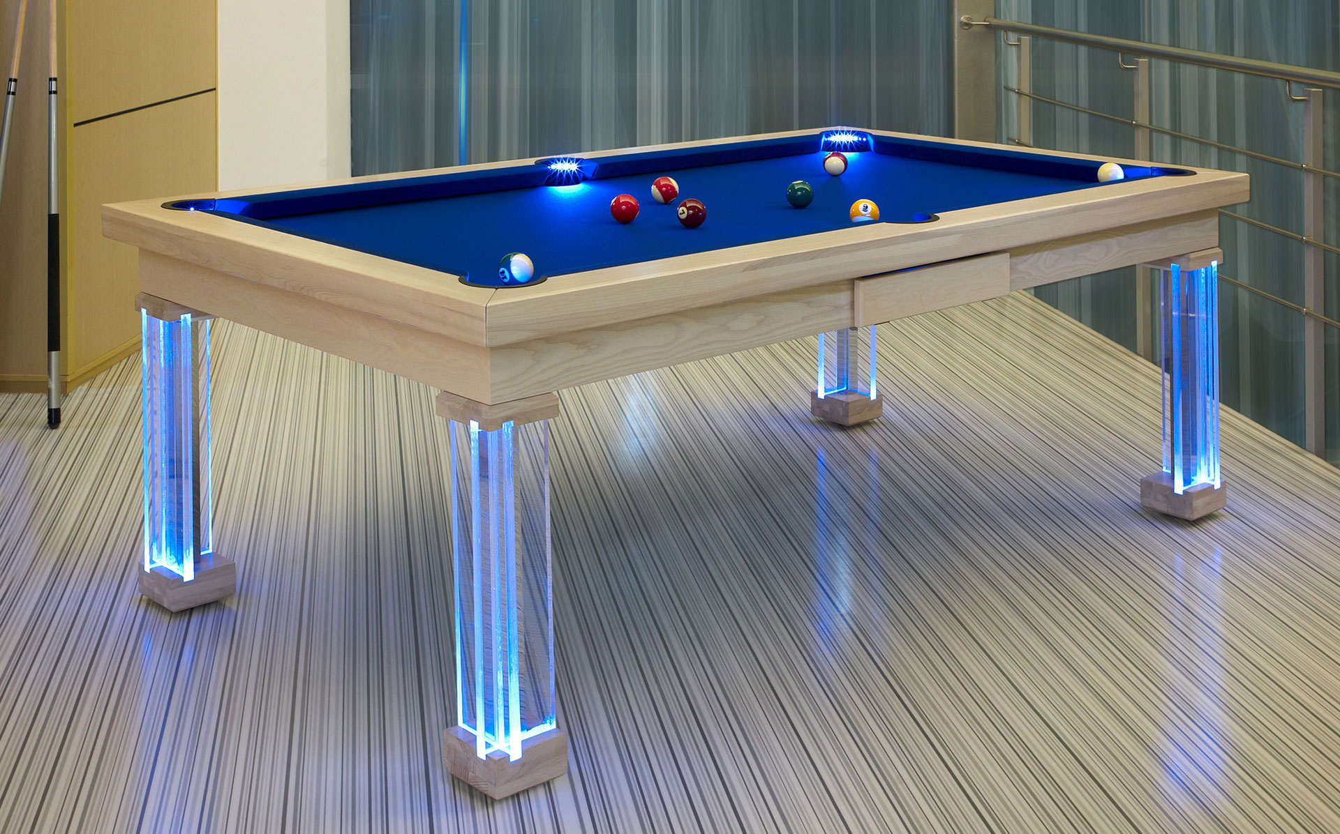 Modern Pool Table Luxury Pool Tables : ModernPoolTableLEDs from luxury-pool-tables.co.uk size 1920 x 1196 jpeg 487kB