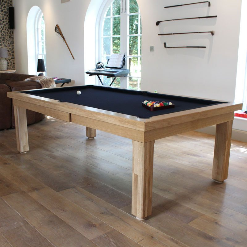 Modern Luxury Pool Table in natural Solid Oak