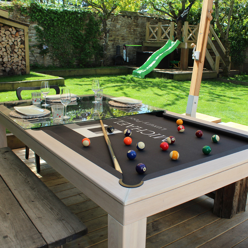 Outdoor pool table luxury pool tables for Outdoor pool backyard