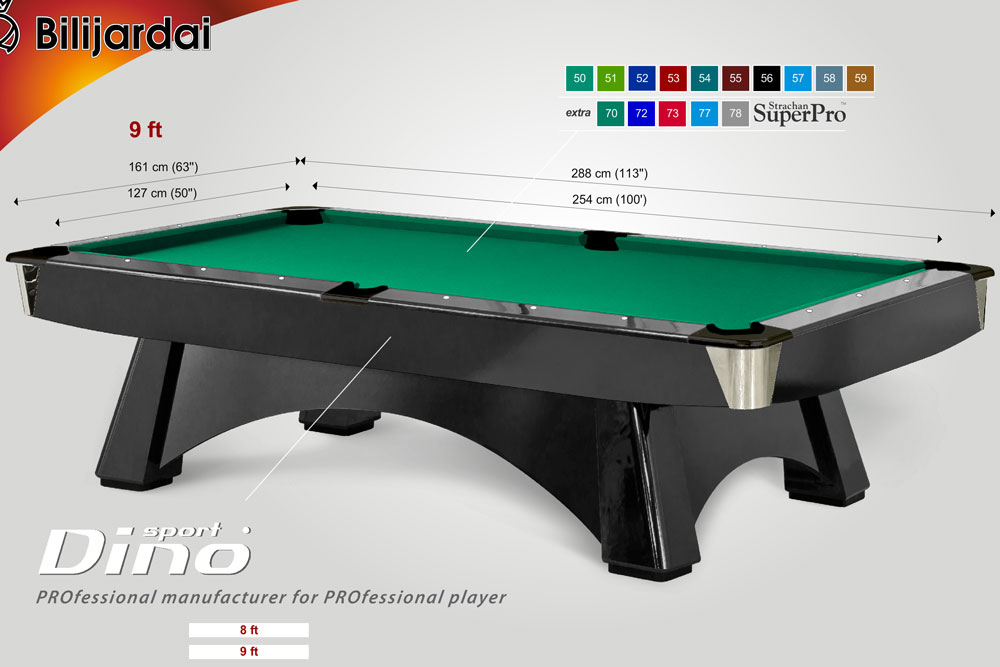 Professional pool table luxury pool tables - Dimension table billard ...
