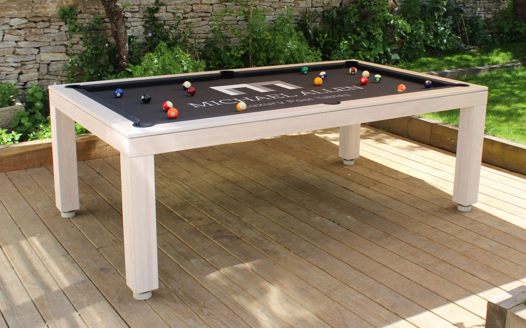 Pool dining tables luxury pool tables for Convert indoor pool table to outdoor