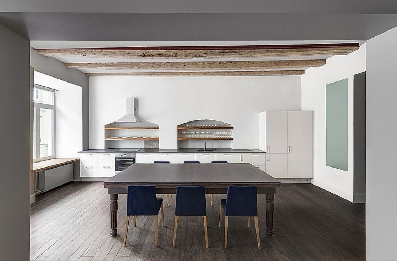 Modern Luxury Pool Dining Table in Solid Oak