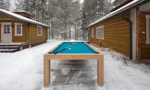NaturalOakOutdoorPoolTable